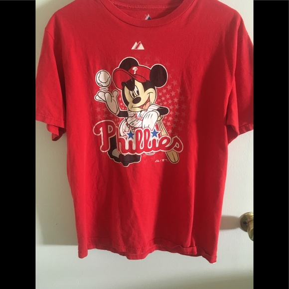 d0388b81e09089 Philadelphia Phillies Mickey Mouse shirt. M 5a8dace885e6055af53e681f